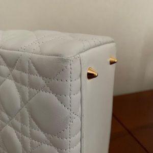 Dior Bags - !SOLD! Dior lady Dior white medium